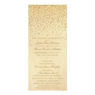 """La colección atractiva del boda del confeti del folleto publicitario 4"""" x 9"""""""