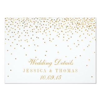 """La colección atractiva del boda del confeti del invitación 4.5"""" x 6.25"""""""