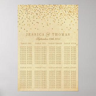 La colección atractiva del boda del confeti del póster