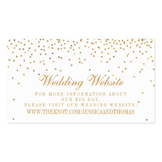 La colección atractiva del boda del confeti del tarjetas de visita