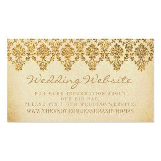 La colección atractiva del boda del damasco del tarjetas de visita
