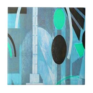 La colección azul del art déco tejas  ceramicas