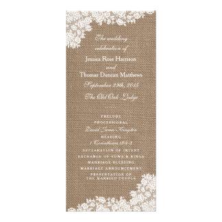 La colección blanca rústica del cordón de la tarjeta publicitaria personalizada