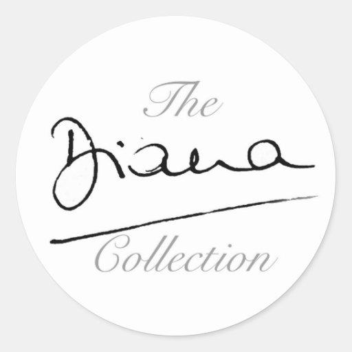 La colección de Diana Pegatina Redonda