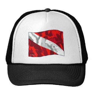 La colección de la bandera de la zambullida gorras de camionero