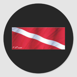 La colección de la bandera de la zambullida pegatina