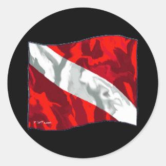 La colección de la bandera de la zambullida etiqueta