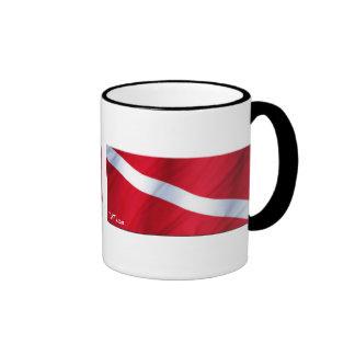 La colección de la bandera de la zambullida taza a dos colores