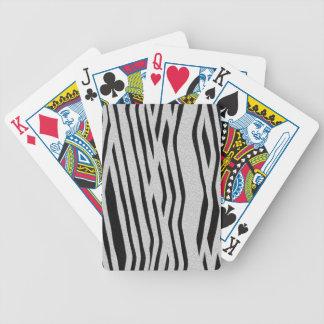 La colección de la piel - cebra barajas de cartas