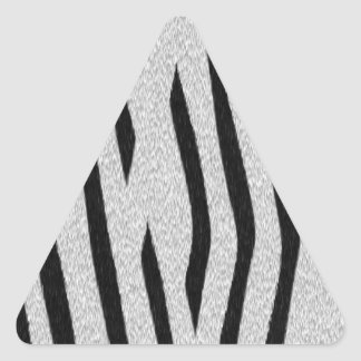 La colección de la piel - cebra pegatinas triangulo personalizadas