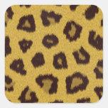 La colección de la piel - leopardo colcomanias cuadradas