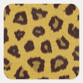 La colección de la piel - leopardo colcomanias cuadradases