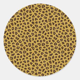 La colección de la piel - leopardo etiquetas redondas