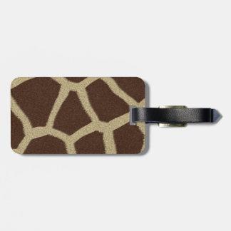 La colección de la piel - piel de la jirafa etiquetas bolsa