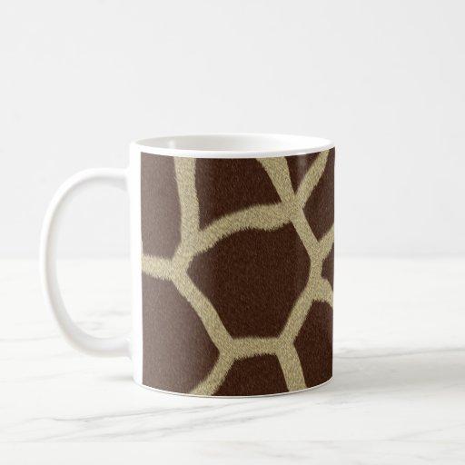 La colección de la piel - piel de la jirafa taza