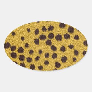 La colección de la piel - piel del guepardo calcomania de óval personalizadas