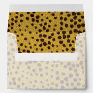 La colección de la piel - piel del guepardo sobres