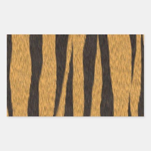 La colección de la piel - tigre pegatina rectangular
