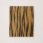 La colección de la piel - tigre puzzle con fotos