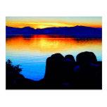 La colección de la puesta del sol postal
