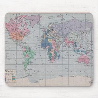 La colección de mapa del vintage del Viejo Mundo Alfombrilla De Ratones