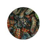 La colección de Mopane Worms (Imbrassia Belina) Reloj Redondo Mediano