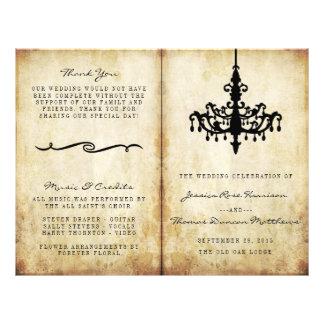 """La colección del boda de la lámpara del vintage folleto 8.5"""" x 11"""""""
