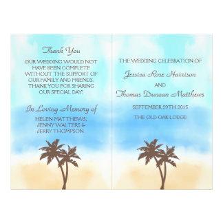 """La colección del boda de playa de la acuarela folleto 8.5"""" x 11"""""""