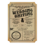 La colección del boda de Steampunk del Victorian Invitación 12,7 X 17,8 Cm