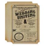 """La colección del boda de Steampunk del Victorian Invitación 5"""" X 7"""""""