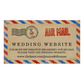 La colección del boda del correo aéreo del vintage tarjetas de visita