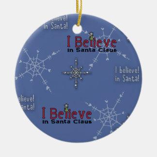 La colección del navidad cree en Santa Adorno Navideño Redondo De Cerámica