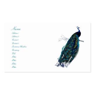 La colección del pavo real tarjetas de visita