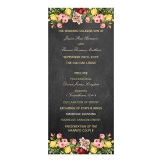 La colección floral del boda de la pizarra del diseño de tarjeta publicitaria