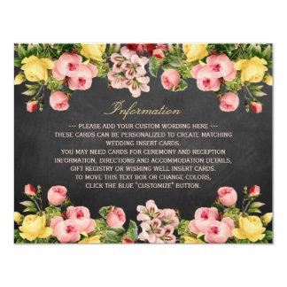 """La colección floral del boda de la pizarra del invitación 4.25"""" x 5.5"""""""