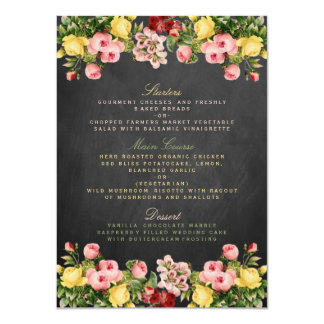 """La colección floral del boda de la pizarra del invitación 4.5"""" x 6.25"""""""