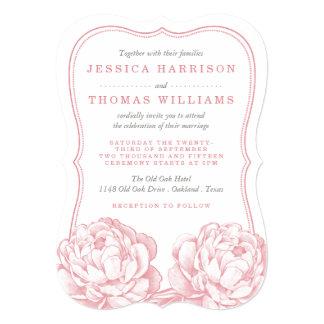 """La colección floral del boda del Peony bonito Invitación 5"""" X 7"""""""