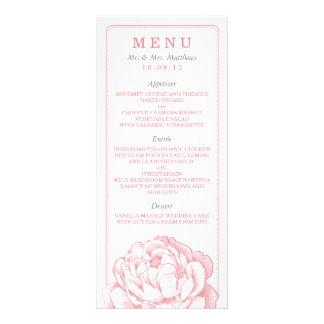 La colección floral del boda del Peony bonito Tarjeta Publicitaria