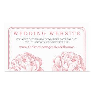 La colección floral del boda del Peony bonito Tarjetas De Visita