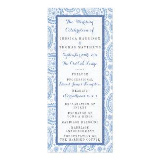 La colección moderna del boda de Paisley - azul Lonas Personalizadas