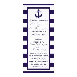 La colección náutica del boda de la raya de la tarjeta publicitaria personalizada