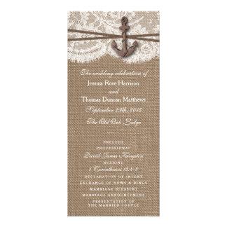 La colección náutica rústica del boda del ancla tarjetas publicitarias