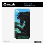 """"""""""" La colección negra del caballo Calcomanía Para iPhone 4S"""