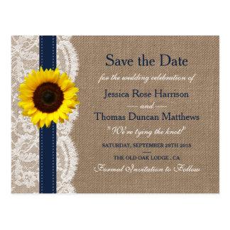 La colección rústica del boda del girasol - marina postal