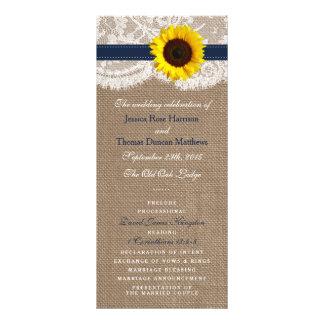 La colección rústica del boda del girasol - marina tarjetas publicitarias personalizadas