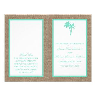 """La colección tropical del boda de playa de la folleto 8.5"""" x 11"""""""