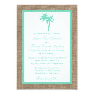 """La colección tropical del boda de playa de la invitación 5"""" x 7"""""""