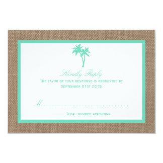 """La colección tropical del boda de playa de la invitación 3.5"""" x 5"""""""