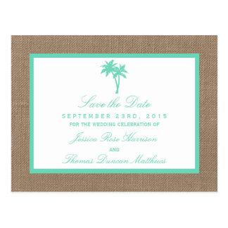 La colección tropical del boda de playa de la postal