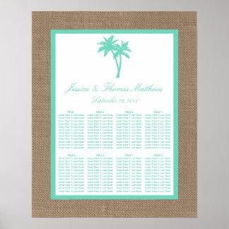 La colección tropical del boda de playa de la póster